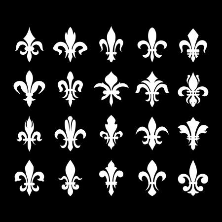heraldic symbol fleur de lis: Lily flower -(heraldic symbol fleur de lis). Vector image.