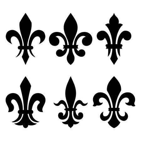 ユリの花-(紋章のシンボル fleur de lis)。ベクトル画像。  イラスト・ベクター素材