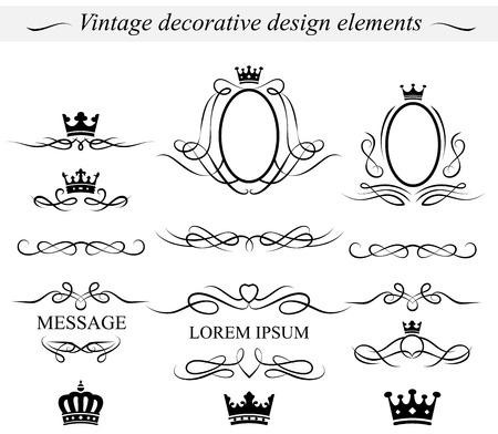 separator: Set of decorative design elements.