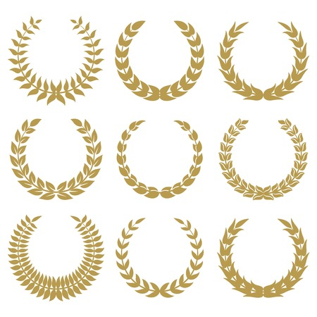 laurel wreaths 1 isolated on white backgrounds. Иллюстрация