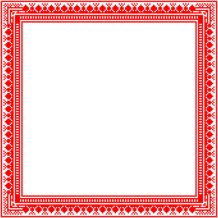 scandinavian christmas: Unique knitted frame with geometric ornament