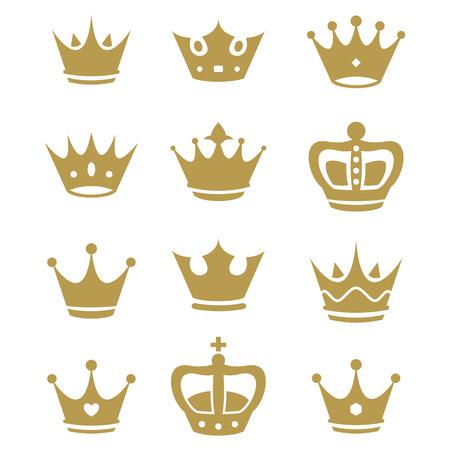 Colección de la silueta de la Corona. Vector. Foto de archivo - 24824783