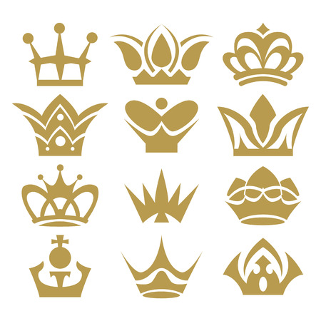 queen silhouette: crown collection  crown set, silhouette crown set