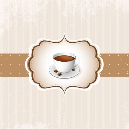 fond caf�: Caf� vintage vecteur de fond Illustration