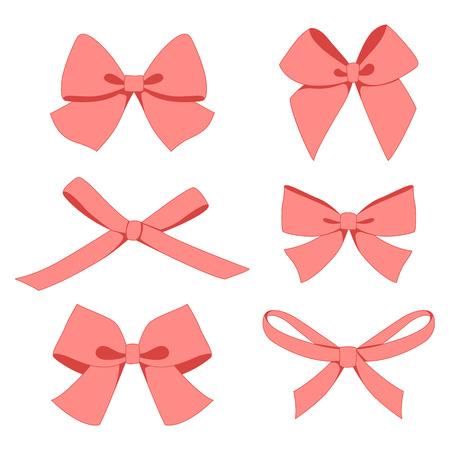 Set of vintage bows. Vector. Illustration