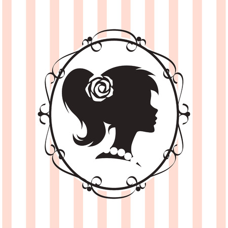 jewellery: Silhouette-Label. Vector.
