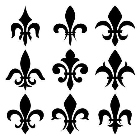 lis: fleur de lis set. Illustration