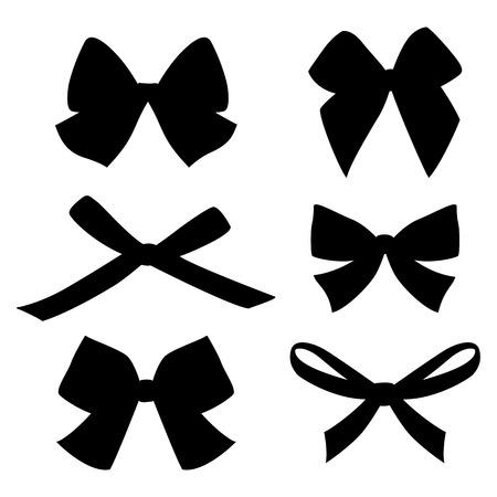 pastel tone: Set of vintage bows. Vector. Illustration
