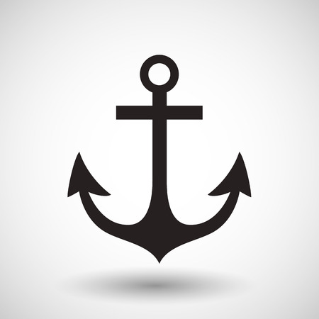 Anchor symbol on gray background. Vector.