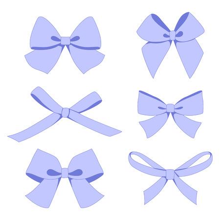 baby gift: Set of vintage bows. Vector. Illustration