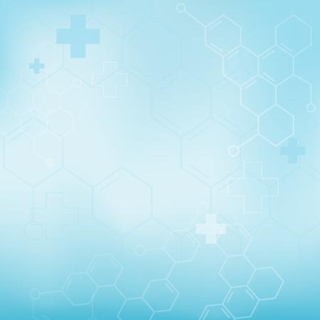 分子医学的背景 (ベクトル) を抽象化します。  イラスト・ベクター素材