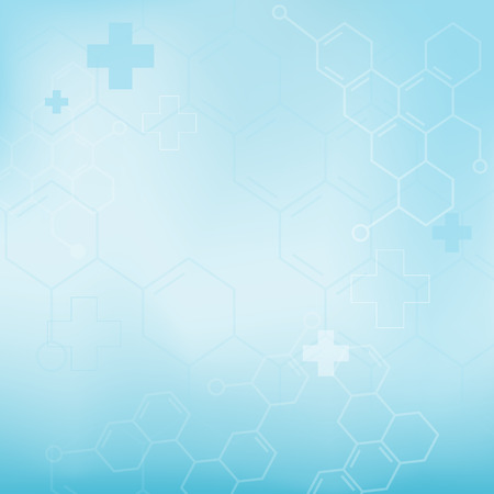 cross light: Abstract molecules medical background (Vector).