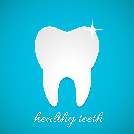 blue tooth: Healthy tooth icon vector Illustration