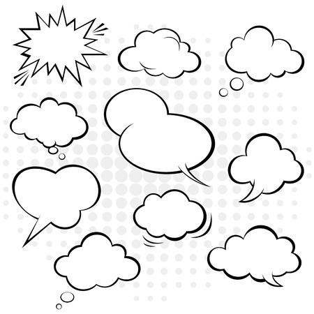 comic speech bubble vector. Illustration