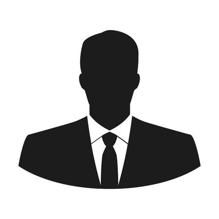 Icono de usuario vector del hombre en traje de negocios Ilustración de vector