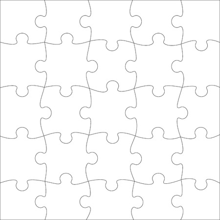 complete puzzle jigsaw template for print vector royalty free