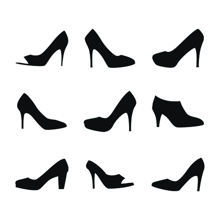 high heel shoes: Shoes silhouettes