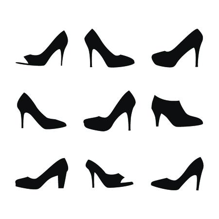 heels: Zapatos siluetas