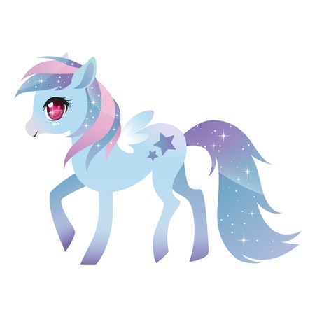 Colorful pony with wings.