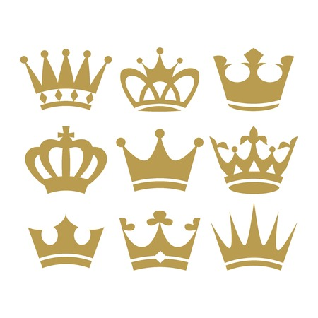 wealth: Crown icons.  illustration isolated on white background. Vector.