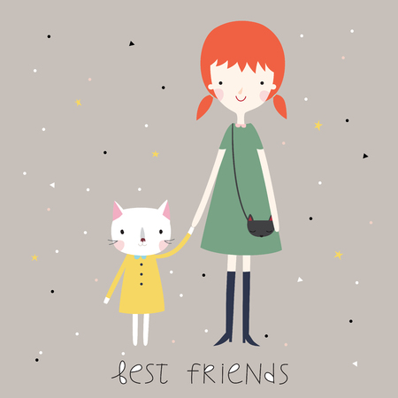 best friends forever: Best friends background or card.