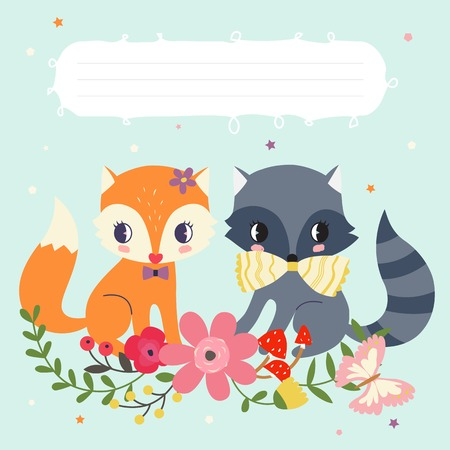 whimsy: Woodland animals template Illustration