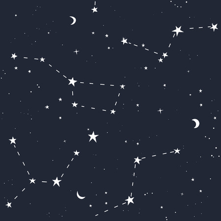 starlit: Space stars colored seamless pattern. Vector illustration. Illustration