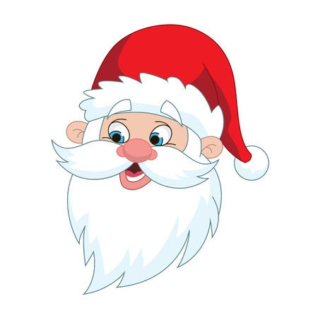 st  nicholas: Classic Santa Claus Head illustration isolated on white background. Illustration