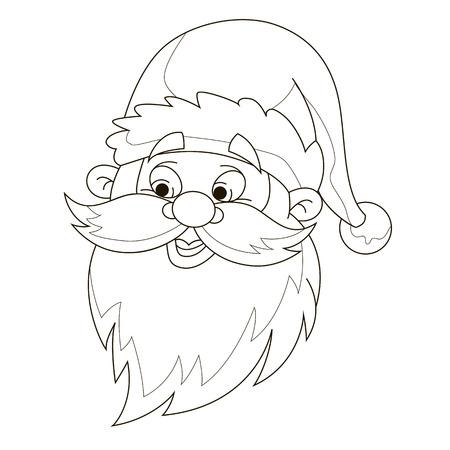 saint nick: Santas head coloring page.
