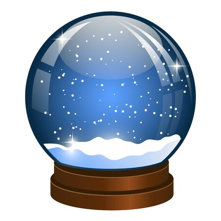 christmas snow globe: Christmas Snow globe with the falling snow.