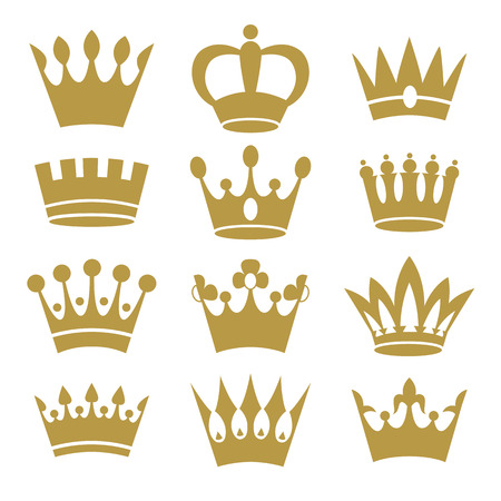 Crown icons isolated on white background. Vector.