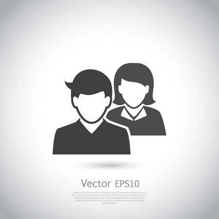 Social network icon. Users icon design element. Vector illustration. Illustration