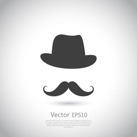 Gentleman icon on light background. Vector illustration.