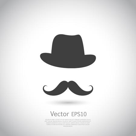 Gentleman ikona na jasnym tle. ilustracji wektorowych.