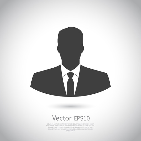 User icon of man in business suit. Vector. Icon EPS10.