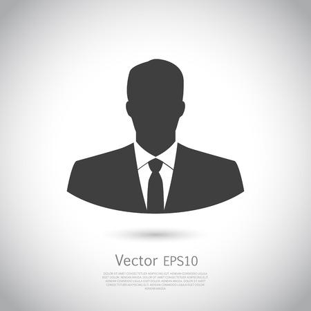 icono de usuario del hombre en traje de negocios. Vector. EPS10 icono. Vectores
