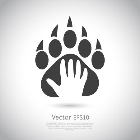 plantilla de diseño de iconos. Resumen concepto de tienda de animales o veterinaria. Vector. EPS10 icono. Ilustración de vector