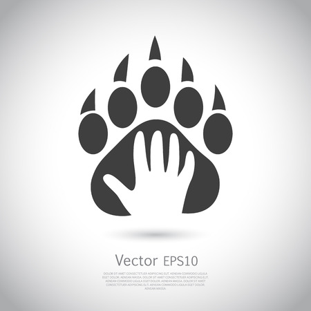 Icon design template. Abstract concept for pet shop or veterinary. Vector. Icon EPS10.