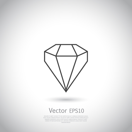 gem: Vector gem icon on gray background. Illustration