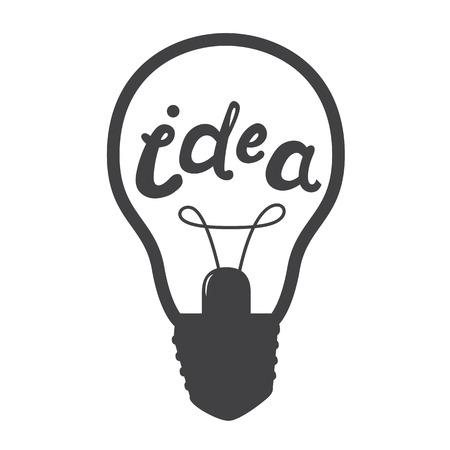 idea lamp: Light lamp sign icon. Idea symbol. Vector illustration isolated on white background.