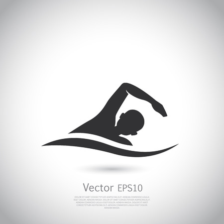 Swimming vector represents active people sport activity sign and symbol.
