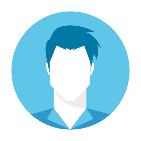 Hombre imagen de perfil avatar. avatar por defecto del usuario, avatar de invitados. Basta con cabeza humana. Ilustración del vector aislado en el fondo blanco. Ilustración de vector