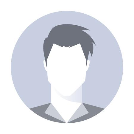 Homme photo de profil avatar. Avatar de l'utilisateur par défaut, invité avatar. Simplement la tête humaine. Vector illustration isolé sur fond blanc. Banque d'images - 61320775