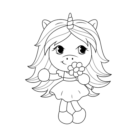 Cute Girl Coloring Pages Spring Flowers Coloring Pages Printable Cute Girl  And Page For Kids - birijus.com | 450x450
