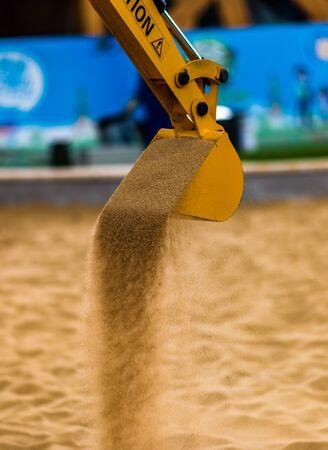 grab: grab excavator Stock Photo
