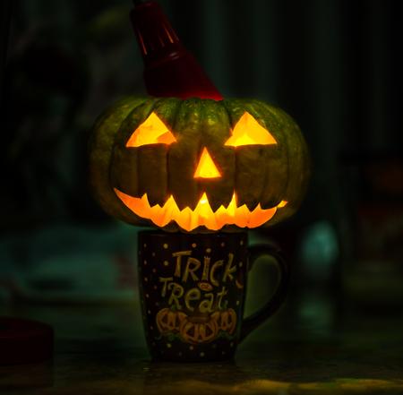 jack'o'lantern: Jack-O-Lantern Stock Photo