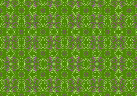 illustraition: Vector illustraition of green  retro abstract Swirl Pattern background Illustration