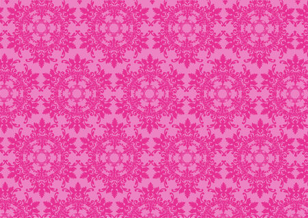 Vector illustraition of pink  retro abstract floral Pattern background Stock Vector - 3882034