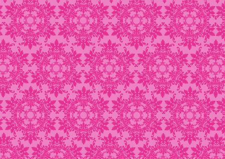 illustraition: Vector illustraition of pink  retro abstract floral Pattern background