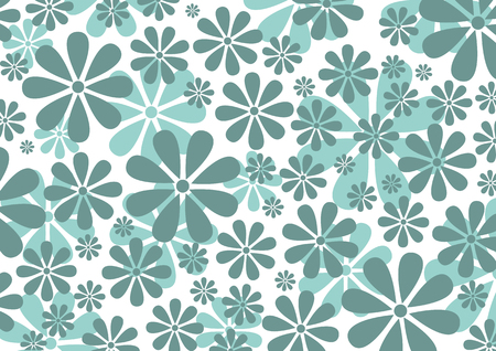 Vector illustraition of grey  Retro Daisy Pattern  background Stock Vector - 3882031
